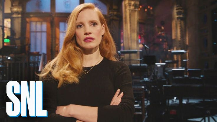"SNL Host Jessica Chastain Is Not Here to Make Friends.... ""Why are we doing this?"" ))"