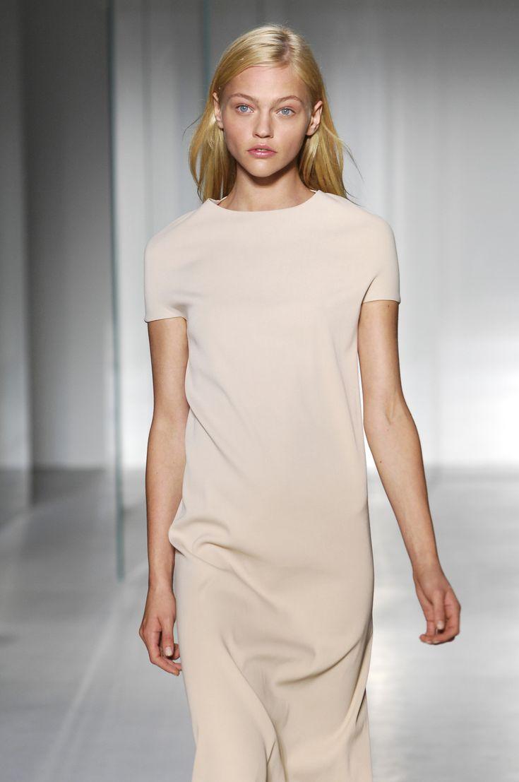 Minimal dress in soft neutral - chic simplicity; understated elegance
