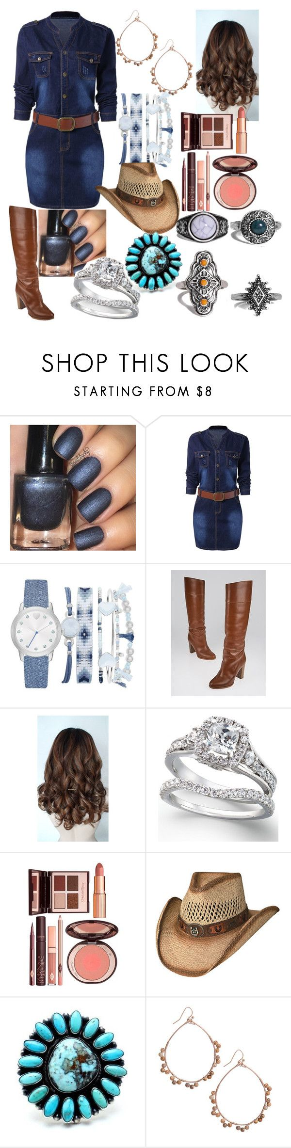"""Singing ""Stand By Your Man"""" by kee199905 ❤ liked on Polyvore featuring A.X.N.Y., Christian Louboutin, Charlotte Tilbury, Child Of Wild and Boohoo"
