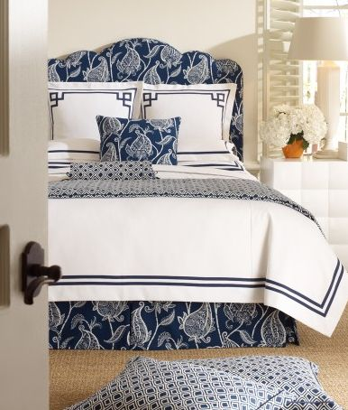 Lucinda Blue Bedding. this looks so crisp. I love blue and white for a bedroom