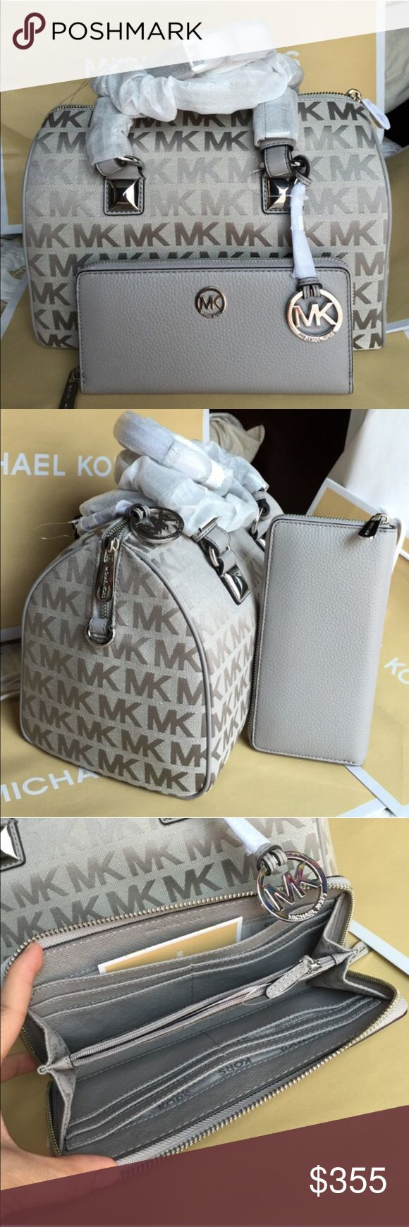 Michael Kors Purse Wallet 100% Authentic Michael Kors Purse, and Wallet both brand new with tag!Grey color. Michael Kors Bags Crossbody Bags