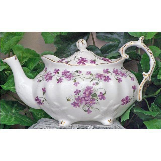 Violets Fine Bone China - Victorian Teapot