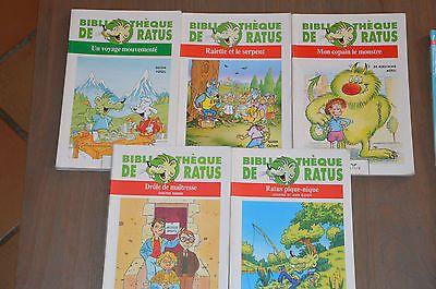 lot 5 livres Bibliothèque de Ratus /moyen format - 7/8 ans - Hatier