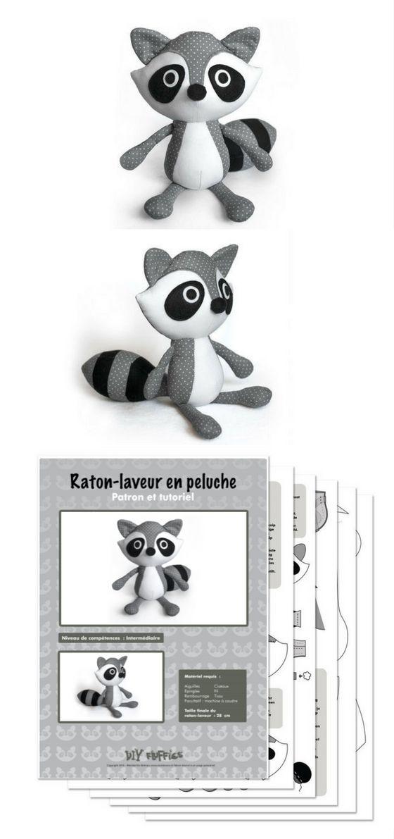 Patron de couture pdf raton-laveur