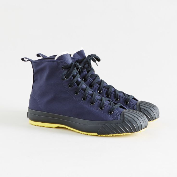 All-Weather High Top Sneakers Navy - The Hill-Side