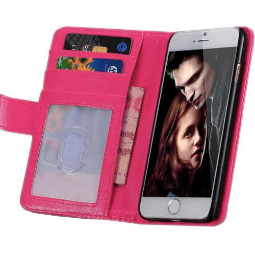New Case - Pink Apple iPhone 6 Leather Wallet Case, Credit Card and Money Slots, $14.95 (http://www.newcase.com.au/pink-apple-iphone-6-leather-wallet-case-credit-card-and-money-slots/)