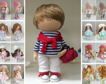 Muñecas Fabric doll Handmade doll Tilda doll Interior doll Art