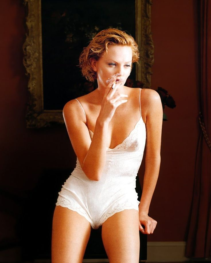 Charlize Theron sexy/ cute lingerie