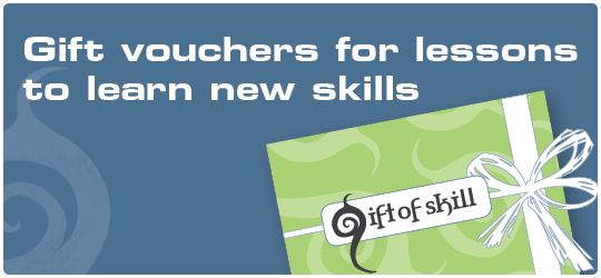 Gift of Skill gift vouchers for lessons to learn new skills