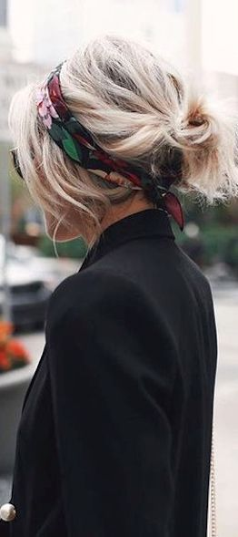 Add a scarf and a messy, no-time hair 'do look…