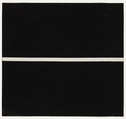 "Horizontal Band  Ellsworth Kelly (American, born 1923)  1951. Ink on paper, 7 1/2 x 8"" (19 x 20.3 cm). Gift of the artist and purchased with funds provided by Jo Carole and Ronald S. Lauder, Sally and Wynn Kramarsky, Mr. and Mrs. James R. Hedges, IV, Kathy and Richard S. Fuld, Jr. and Committee on Drawings Funds. © 2012 Ellsworth Kelly"