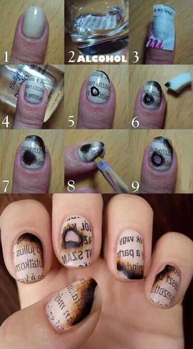 Keep pace with the latest beautiful nail tutorials by follow our post. Today, we pick up some useful nail tutorials for you to practice. Take your manicure tool | See more about Newspaper Nails, Newspaper Nail Art and Newspaper.