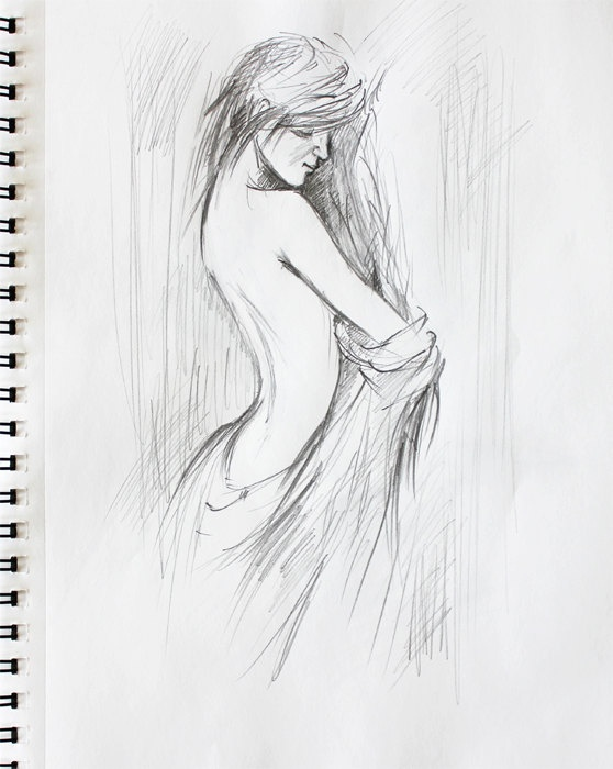 Naked sketches of sexy women
