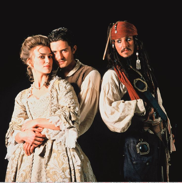 *ELISABETH SWANN, WILL TURNER & CAPTAIN JACK SPARROW ~ Pirates of the Caribbean Captain Jack is the third wheel