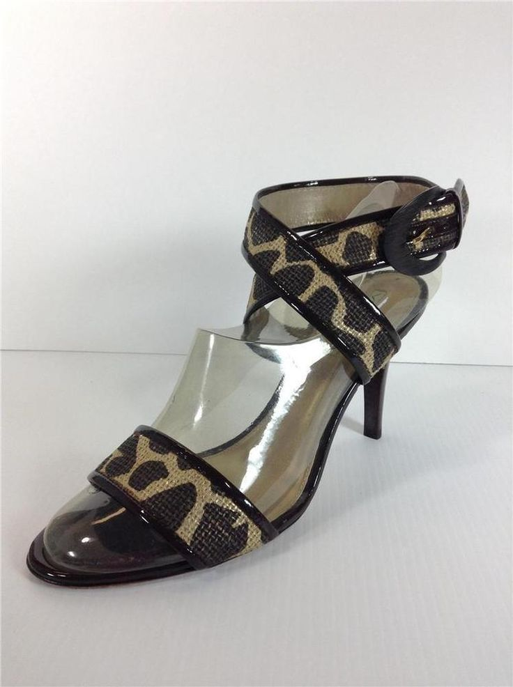 Via Spiga Animal Print Womens Shoes Size 9.5 Ankle Strap #ViaSpiga #Strappy