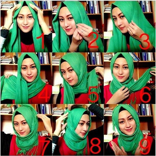 Turkish Inspired Hijab Tutorial – 9 Steps