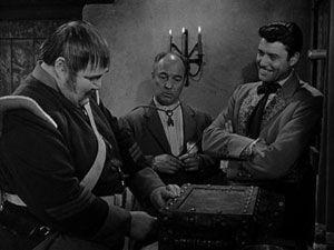Zorro - Sgt. Garcia (Henry Calvin); Bernardo (Gene Sheldon) and Don Diego/Zorro (Guy Williams) - 1957