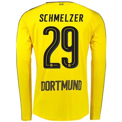 BVB Home Shirt 2016-17 - Long Sleeve with Schmelzer 29 printing, Yellow/Black: with Schmelzer 29… #sports #sportsshopping #sportswear