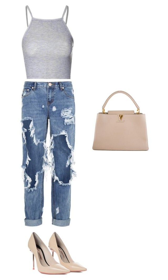 """Untitled #52"" by sharel-njock on Polyvore featuring Glamorous, One Teaspoon, Sophia Webster and Louis Vuitton"