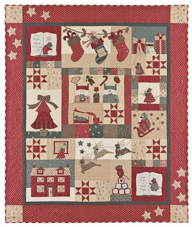 The Night Before Christmas quilt... suppose there's any chance I'd get it done by christmas? Nah! SO fun to work on though --- Bunny Hill Designs