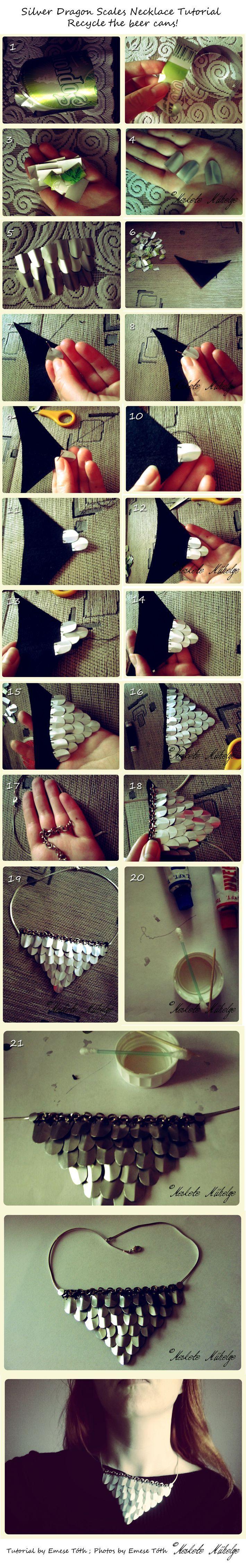 Récupérer une canette pour en faire un bijou écaille de dragon! - Bricolages - Des bricolages géniaux à réaliser avec vos enfants - Trucs et Bricolages - Fallait y penser !