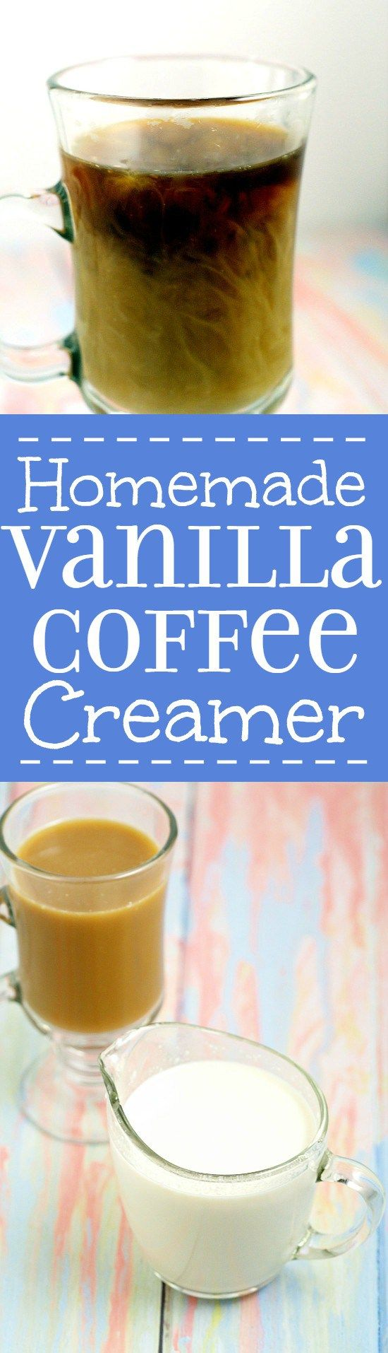 Easy and classic Homemade Vanilla Creamer recipe is frugal and delicious wayto make your morning coffee a special treat. Easy to make with just 4 ingredients! Perfect! So easy to make and tastes just like store bought coffee creamer!