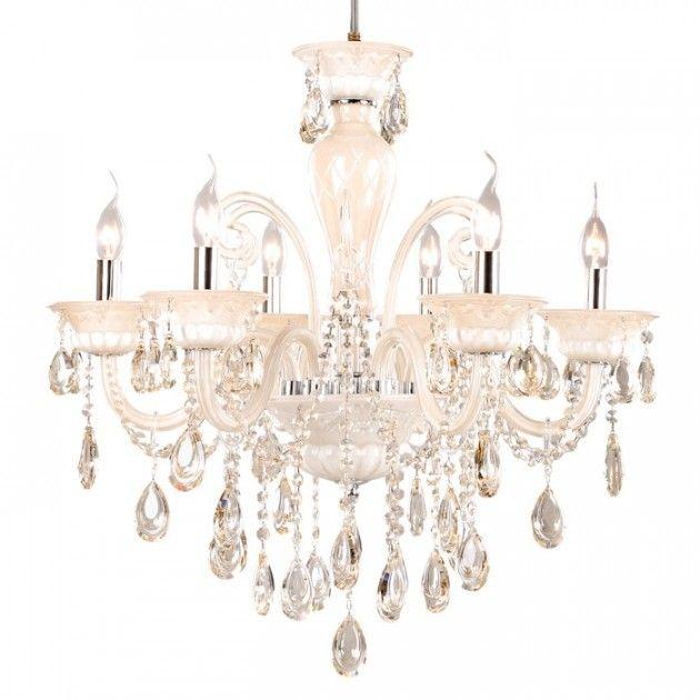 Straale® Bianca 6A Hvit Lysekrone, Klassisk Krystall Lysekrone #crystall #chandelier #white #diningroomlighting #lysekrone #krystall #interiør #nettbutikk #lunelamper.no