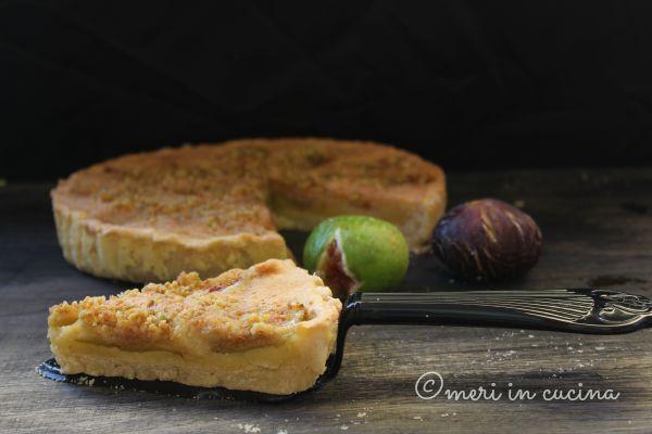 crostata con frangipane e fichi