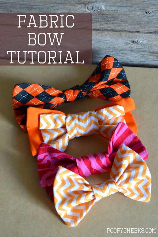 Simple Fabric Bow Sewing Instructions because bow ties are cool