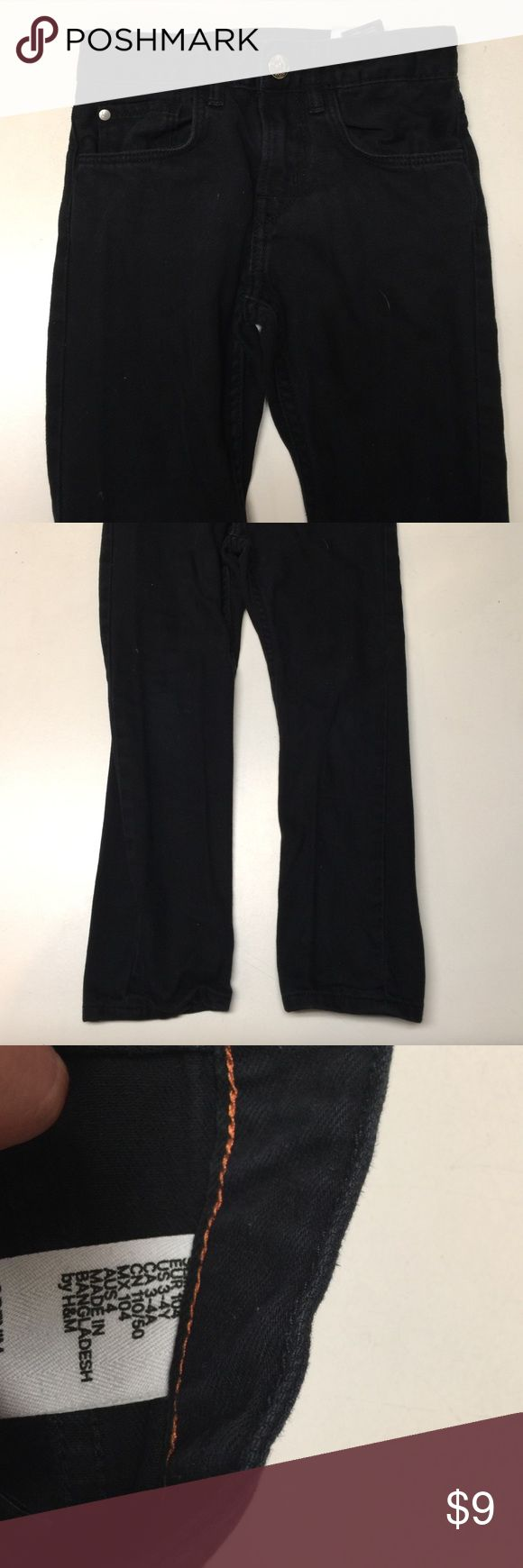 H&M boy black jeans H&M black skinny boy jeans size 3-4 years H&M Bottoms Jeans
