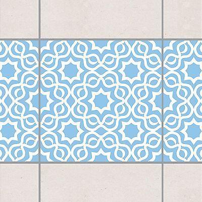 Fliesen Bordüre - Islamic Light Blue 15x15 cm - Fliesenaufkleber Blau