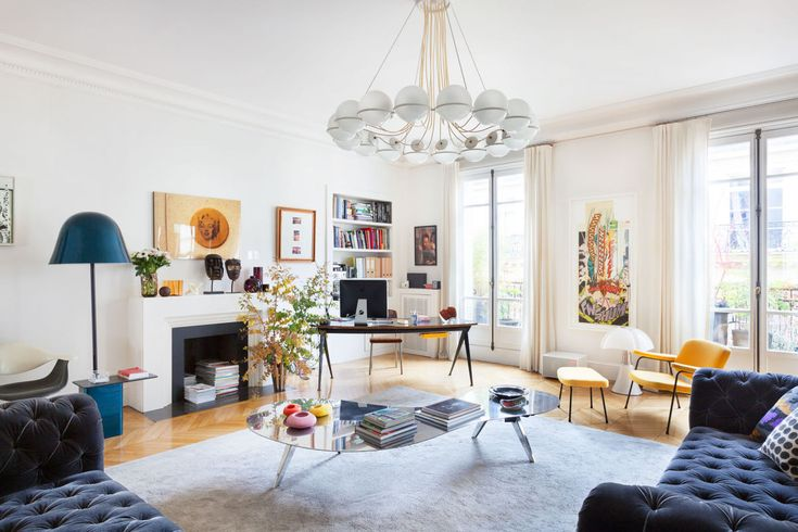 Het Parijse appartement van binnenhuisarchitect Sandra Benhamou