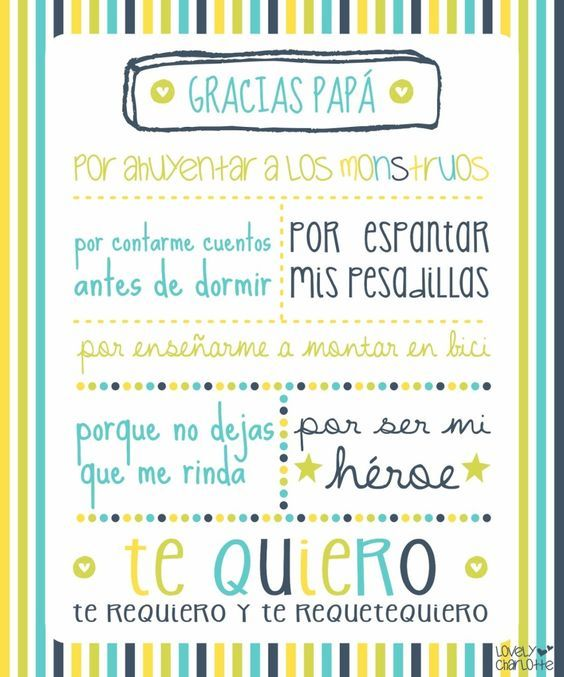 Imprimibles gratis para el día de padre en español | Todo Bonito