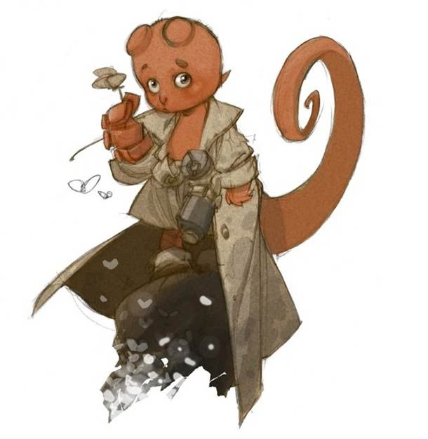 Pequenos Heróis de Alberto Varanda - HellBoy