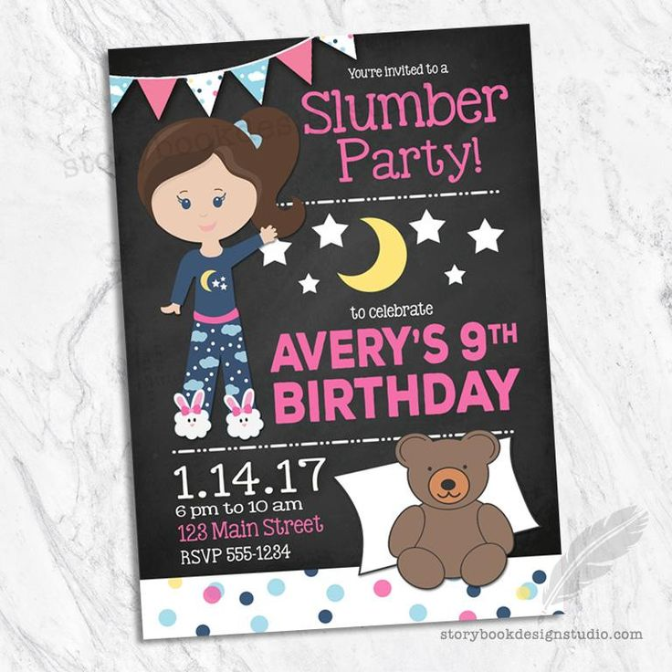 Best 25+ Slumber party invitations ideas on Pinterest | Sleepover ...