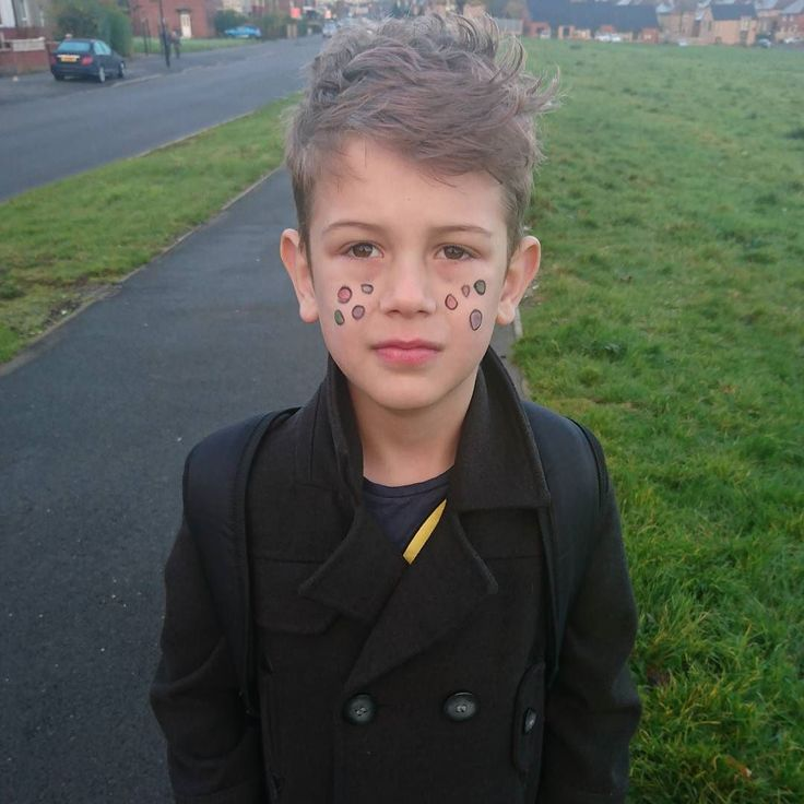 Couldn't find a #childreninneed t-shirt anywhere that wasn't a ridiculous price for one day so Eban has a spotty face.