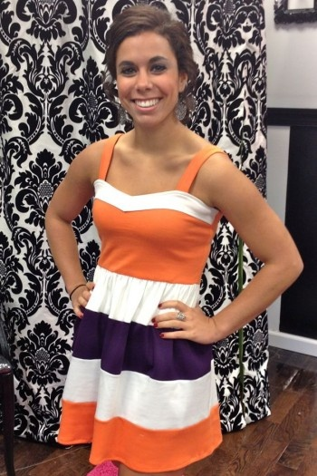 clemson game day dress. This is adorable!!!!!!!