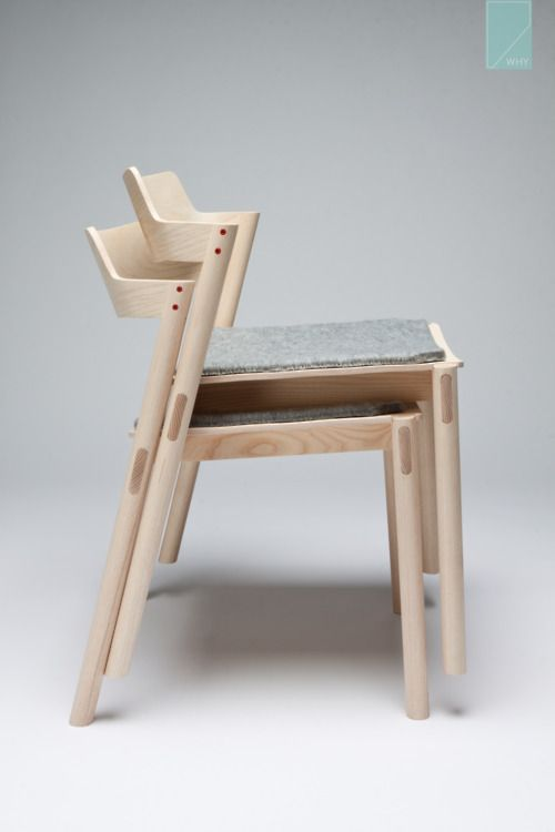 A pair of Ash Stackable Chairs that I recently made in Copenhagen Denmark. 2012