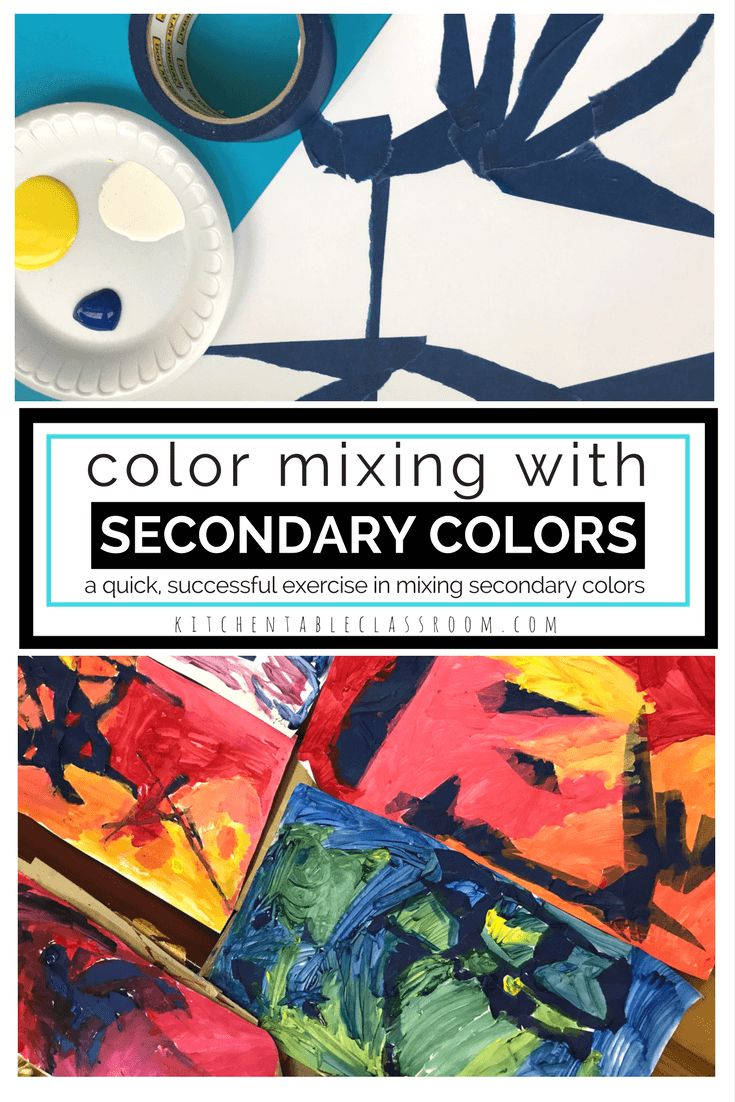 Color is one of my favorite topics to focus on when teaching kids. But putting the three primary colors on a plate and stirring tends not to result in three beautiful secondary colors but in a muddy mess. Try this quick, successful color theory exercise in mixing secondary colors!