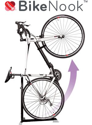 Store Your Bike Up And Away! Bike Nook is the brilliant new way to quickly and easily store any bike.