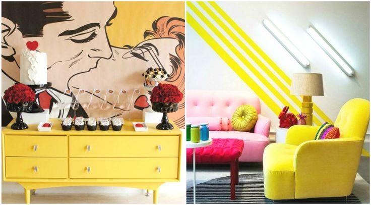 Яркая мебель в стиле поп-арт #interior #мебель #дизайн #интерьер #дом #уют #декор