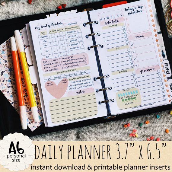 Islamic DAILY Planner by Kecilmamil A6 SIZE by Kecilmamil on Etsy