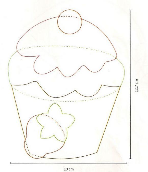Patchwork Porta Copos Cupcake cakepins.com