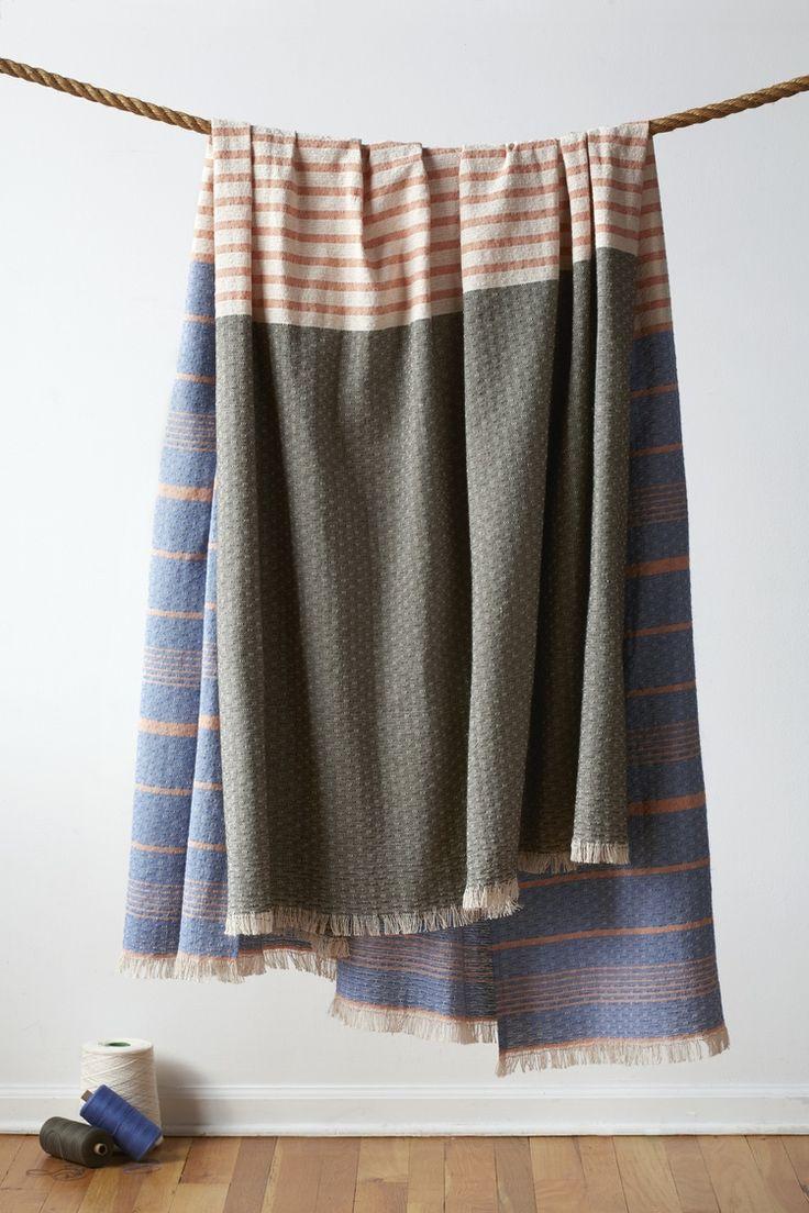 Grayson silver gray jacquard fabric cloth bathroom bath shower curtain - Sunset Blanket Natural
