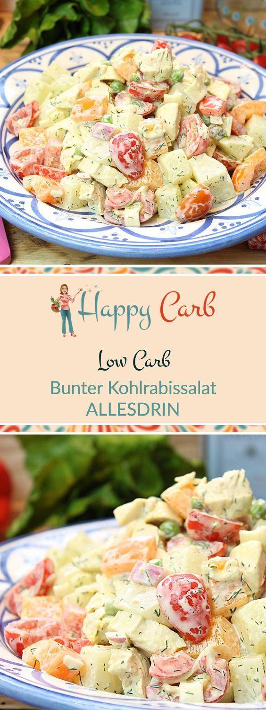 Der rundum volle und fröhliche Salat. Low Carb, keine Kohlenhydrate, glutenfrei, Low C …   – Abnehmen Rezepte
