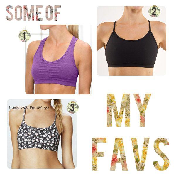 diy sport bra pattern | Sports Bras: My Favorites