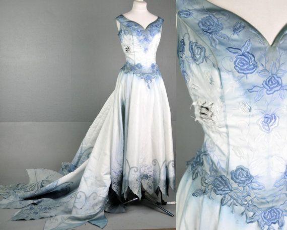 Zombie Wedding Dress For  : Tim burton bride wedding zombie dress gown by lotofvintage