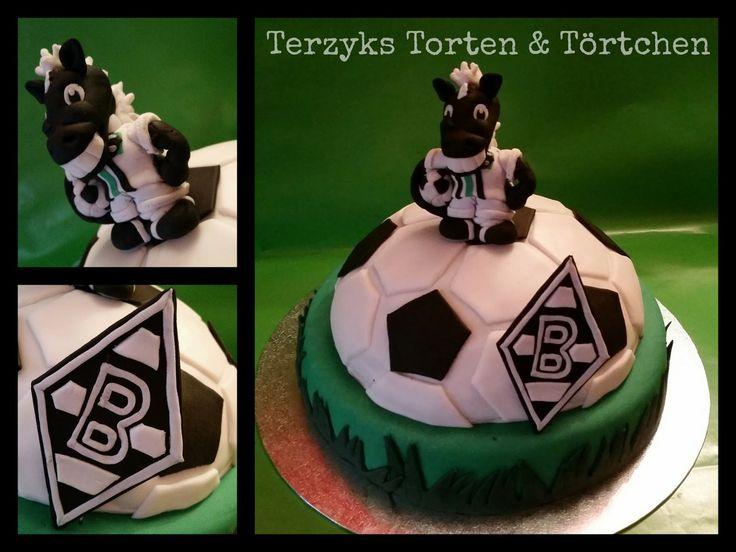 Borussia Mönchengladbach Fussball Fondant Cake Jünter