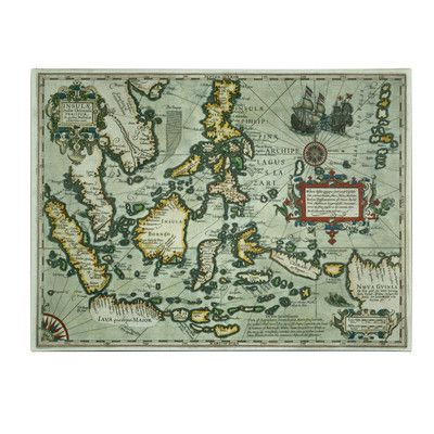 A map print adds interest to a library or study--we love the antique look of this one of the East Indies. | $44