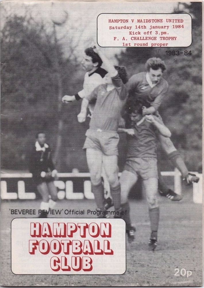 HAMPTON -v- MAIDSTONE UNITED (1983/84)  FA Trophy